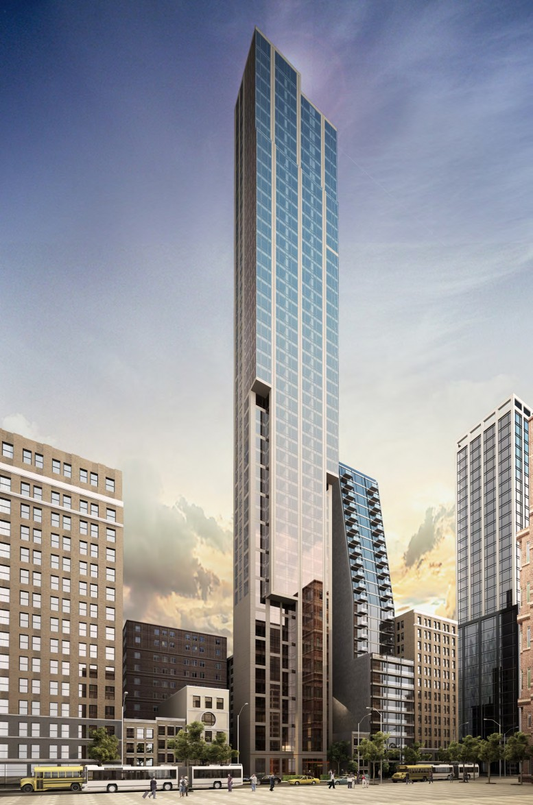 Rendering of 131 East 47th Street, southwest perspective. Credit: SLCE Architects