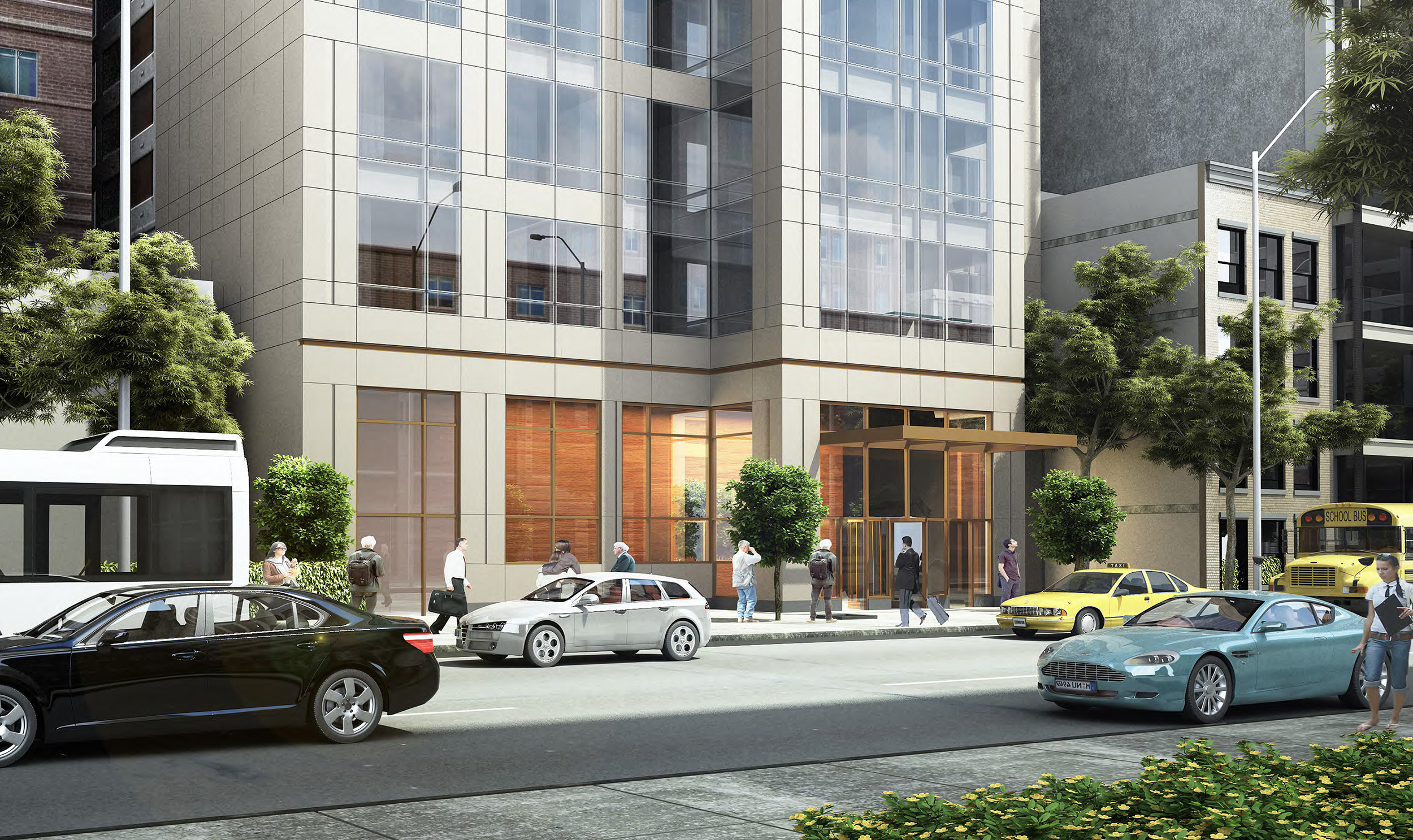 Rendering of 131 East 47th Street. Credit: SLCE Architects
