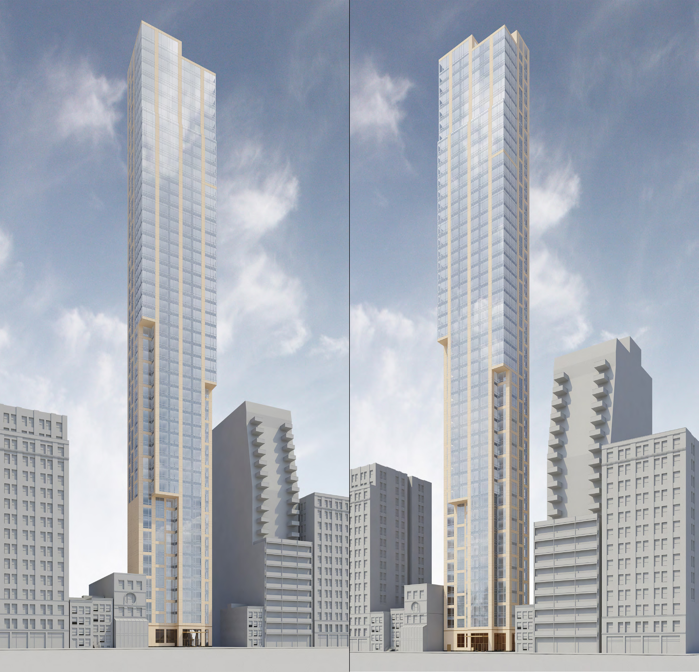 Studies of 131 East 47th Street. Credit: SLCE Architects