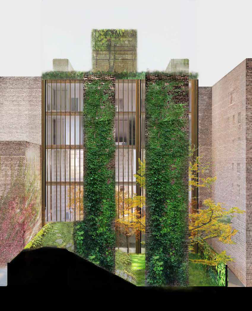 Proposal for the rear of 11-15 East 75th Street, with greenwalls