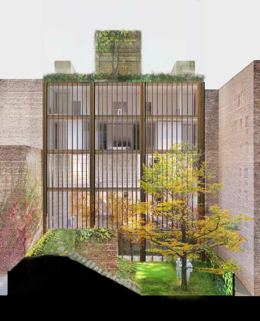 Proposal for the rear of 11-15 East 75th Street, without greenwalls
