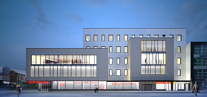 1601 Kings Highway, rendering by Murdock Solon Architects