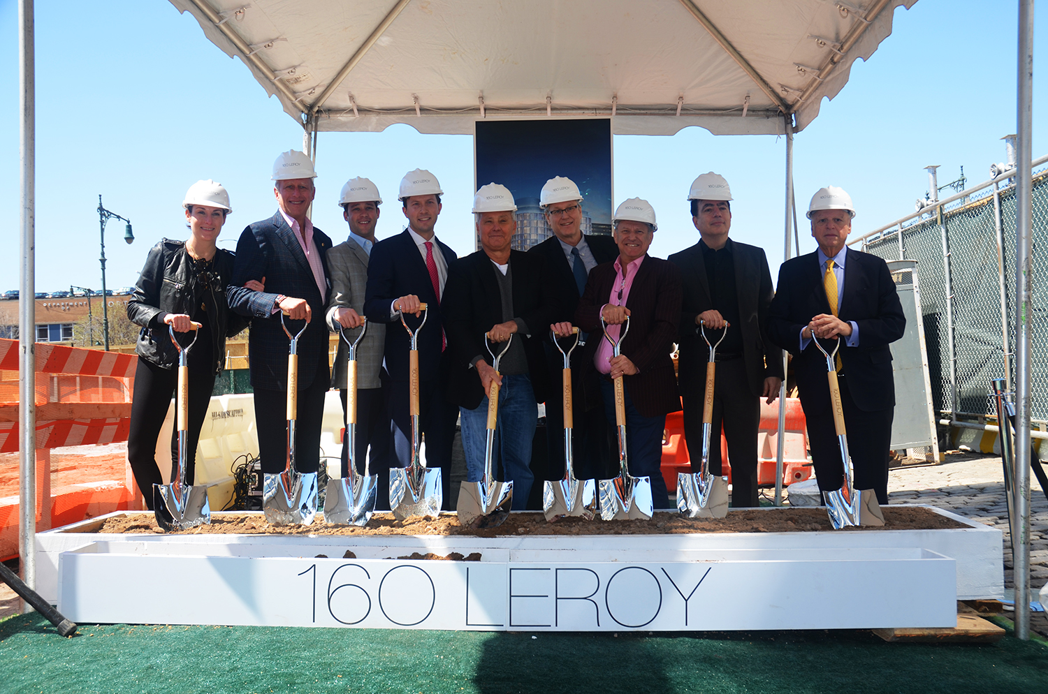 Groundbreaking for 160 Leroy Street. All photos by the author