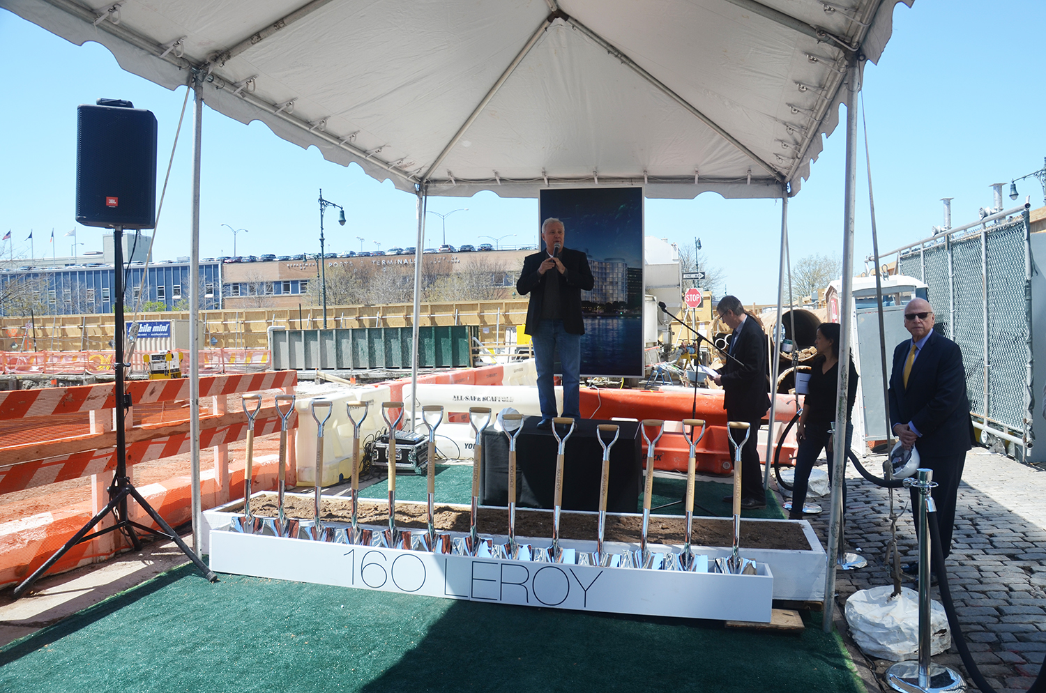 Ian Schrager at the groundbreaking for 160 Leroy Street