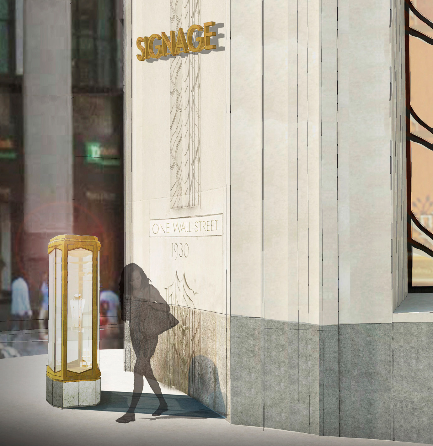 Corner proposal for 1 Wall Street (not approved)