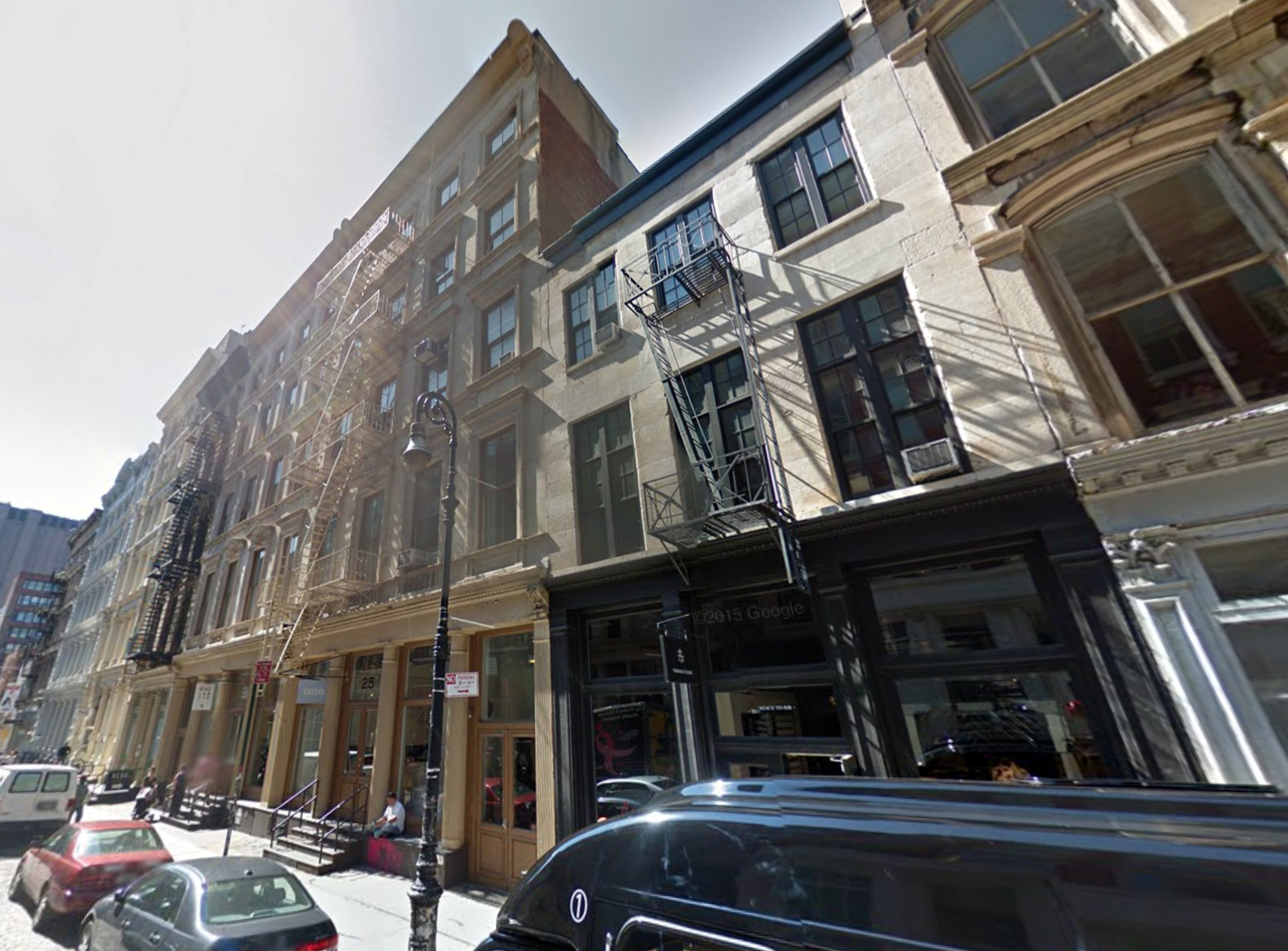 25 Mercer Street and 27 Mercer Street, September 2014. Photo via Google Maps