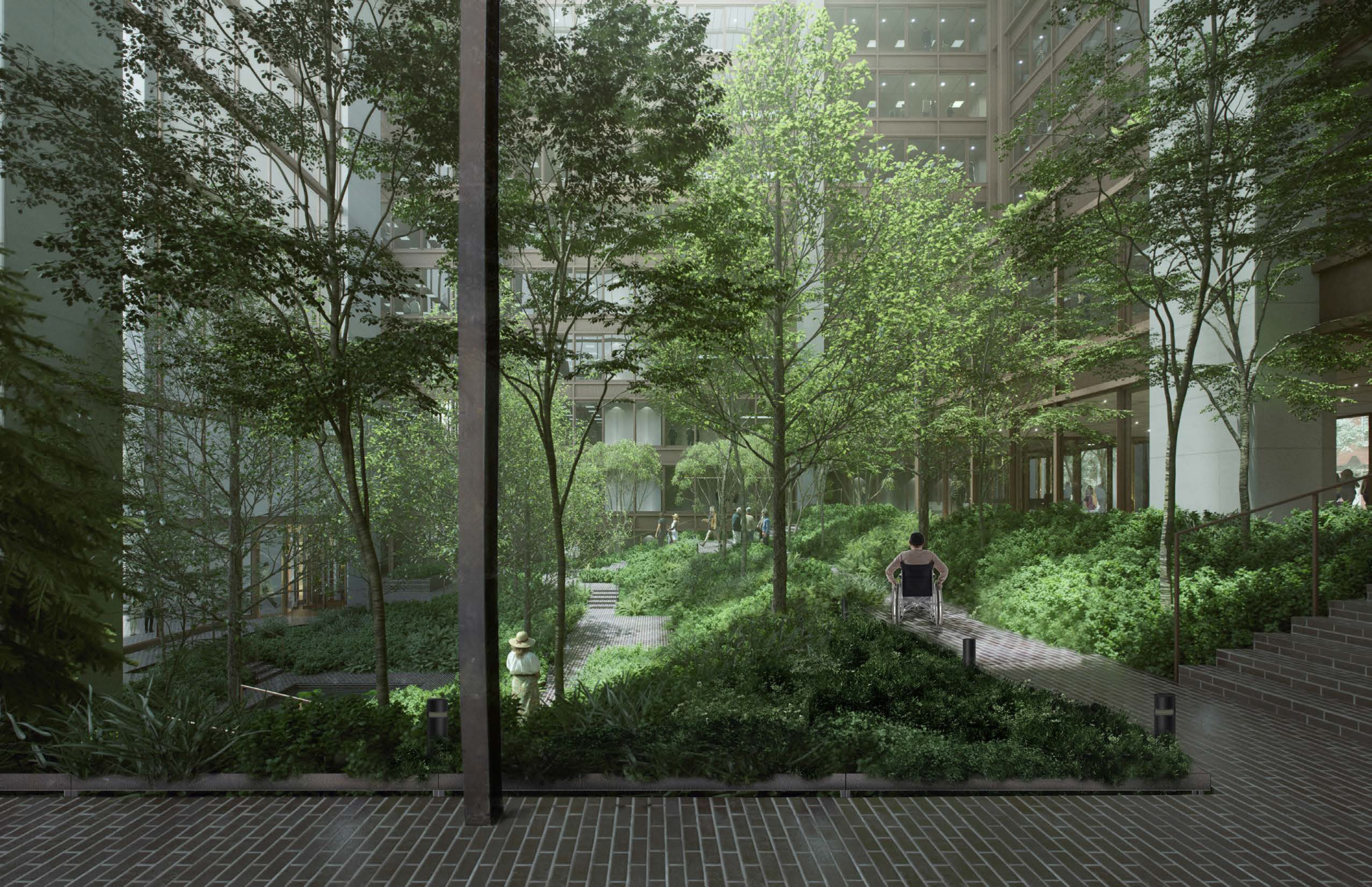Proposed conditions at the Ford Foundation Building