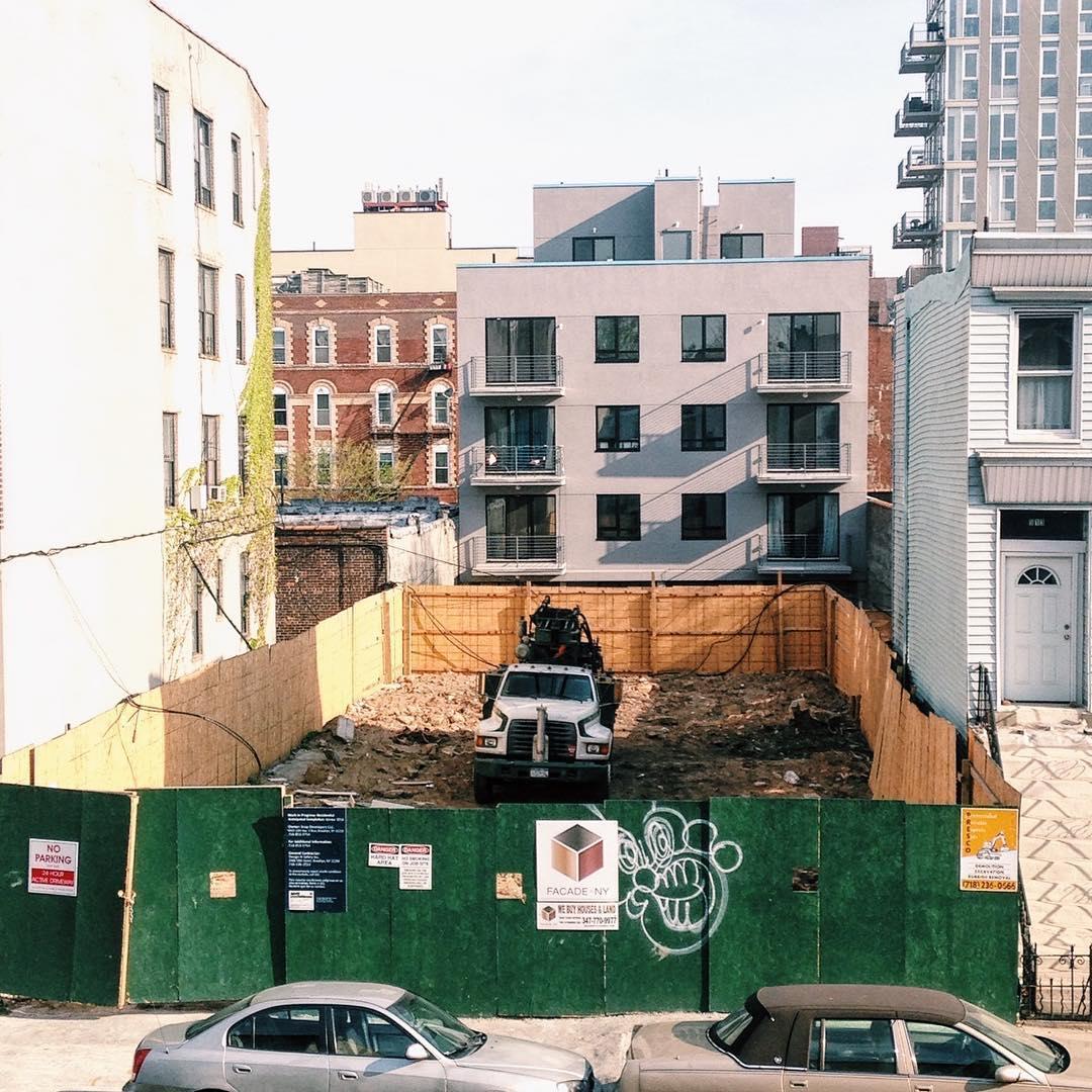 Post-demolition511 Lafayette Avenue on April 22nd, 2016. Credit: thefiveeleven