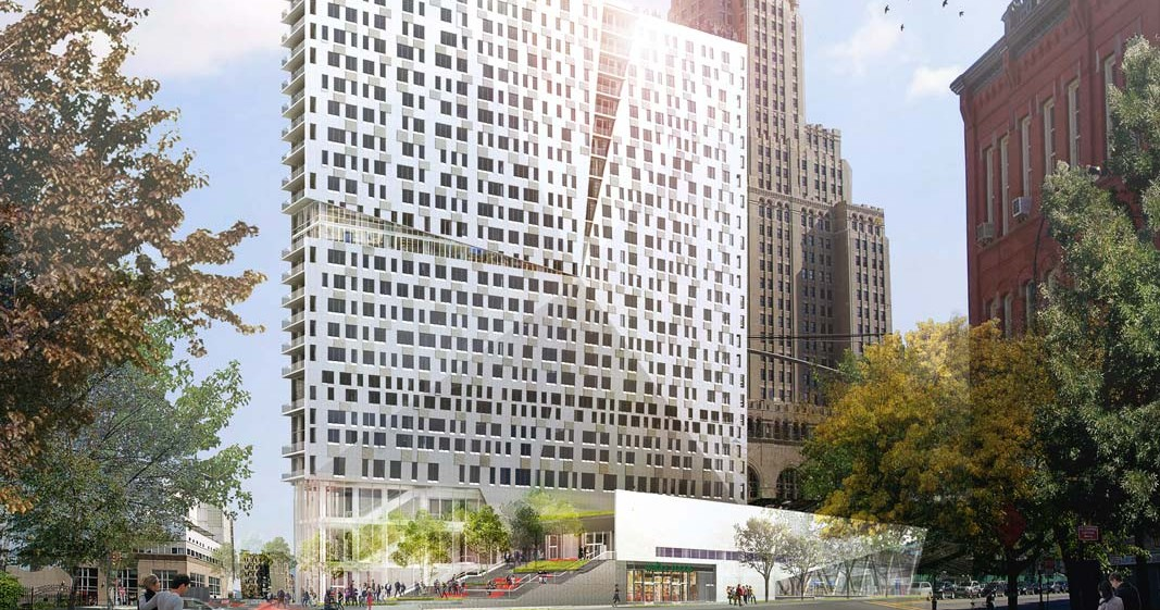 Rendering of 300 Ashland Place. Credit: Ten Arquitectos