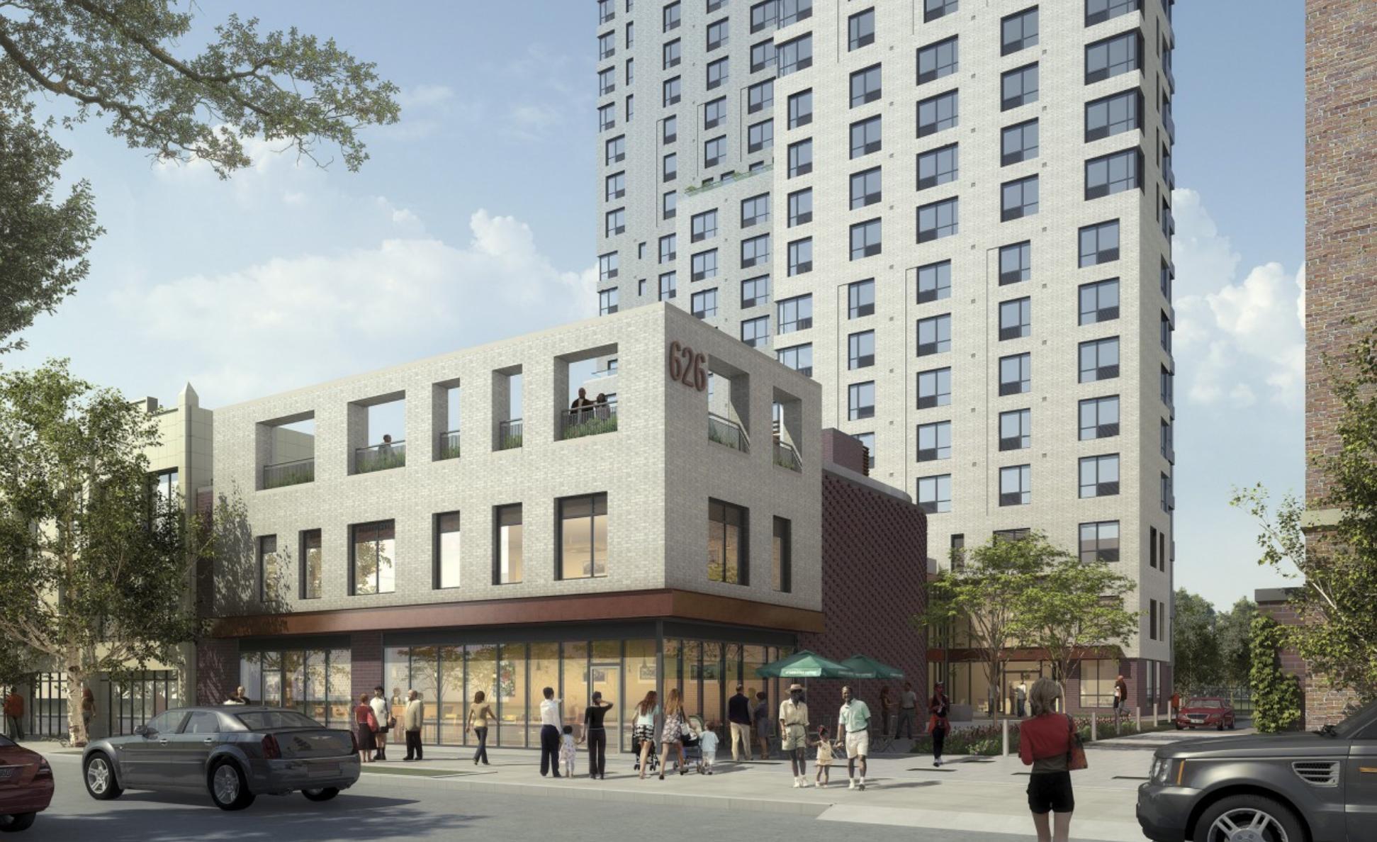 Rendering of 626 Flatbush Avenue. Credit: Marvel Architects