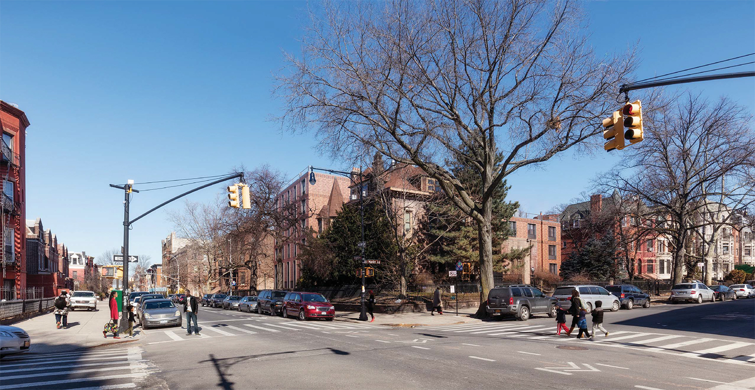 Proposal for 839 St. Marks Avenue, corner view
