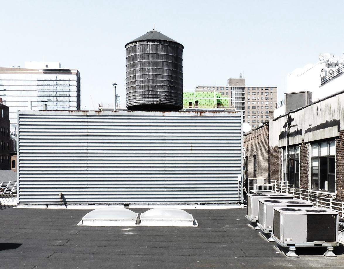 Roof view of the bulkhead atop 875 Washington Street