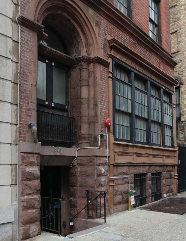 890 Park Avenue, existing entrance