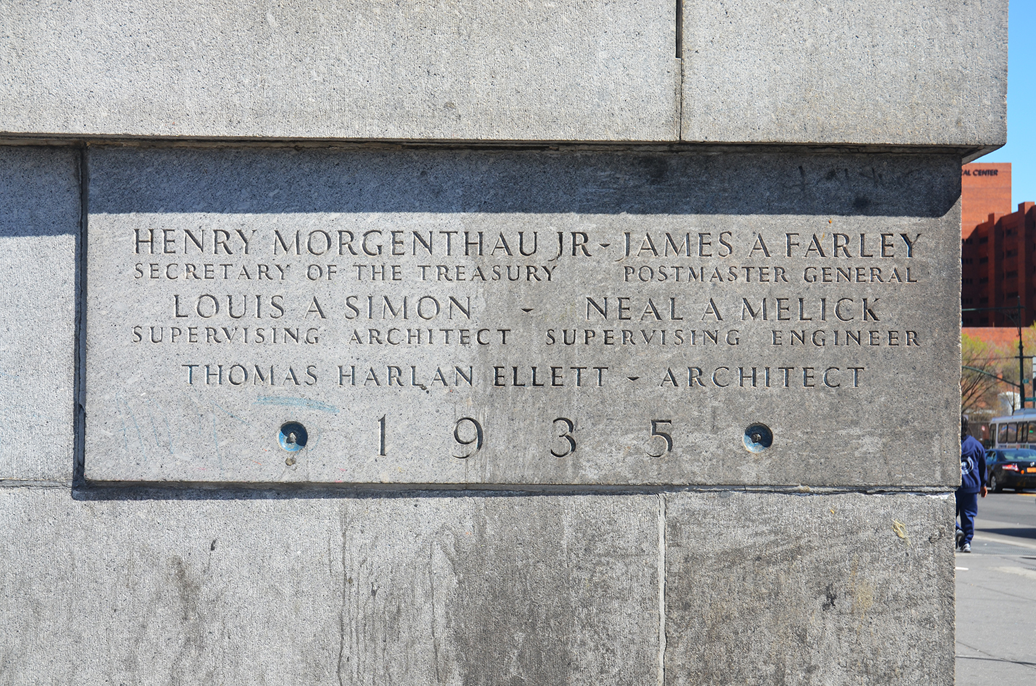 Bronx General Post Office Cornerstone