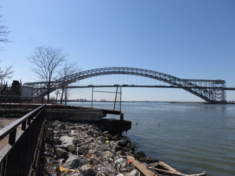 The Bayonne Bridge. Looking west from Staten Island. Photos by the author unless indicated otherwise.