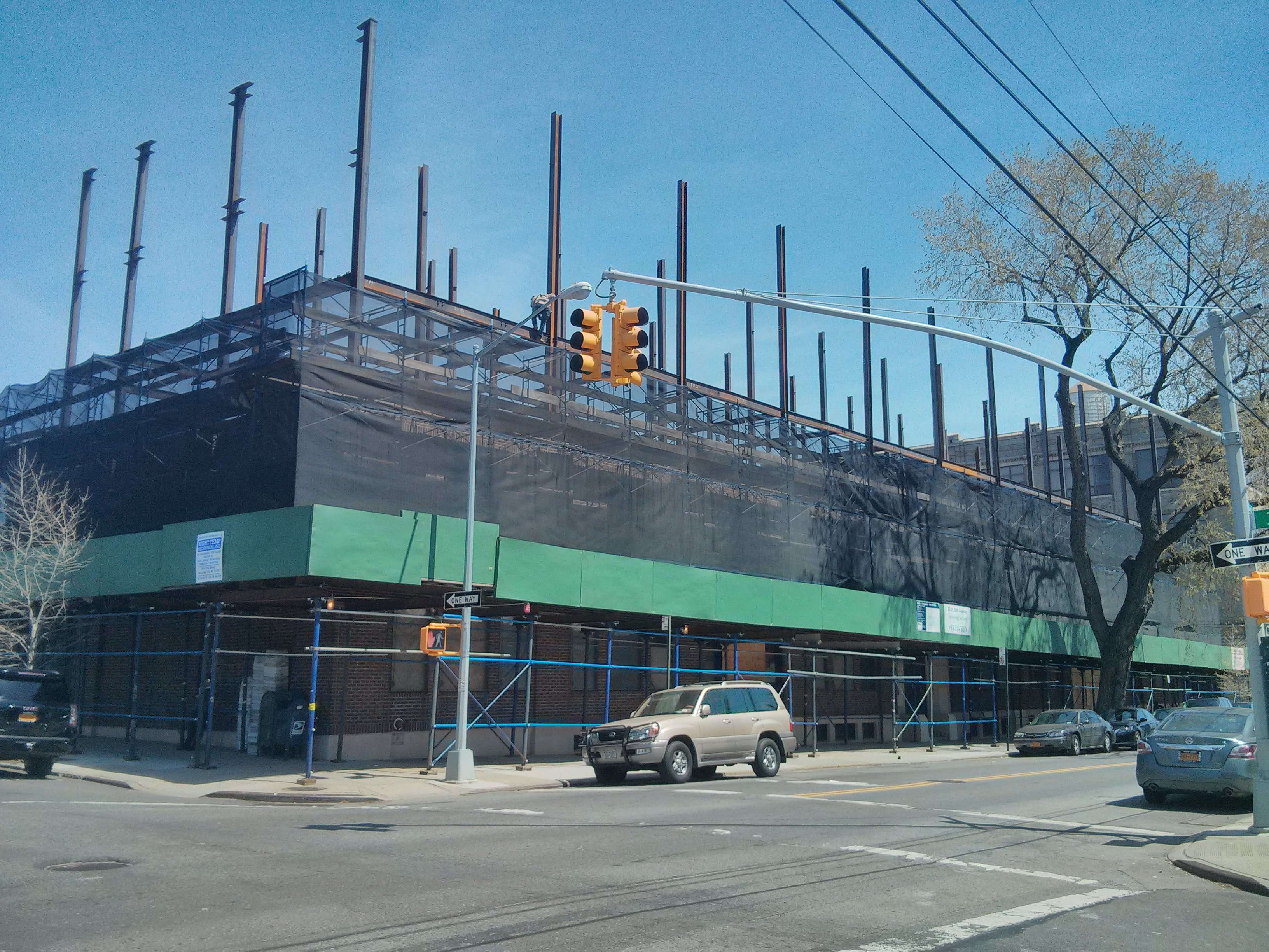 Construction at 33-01 38th Avenue. Photo by YIMBY reader Bob P.
