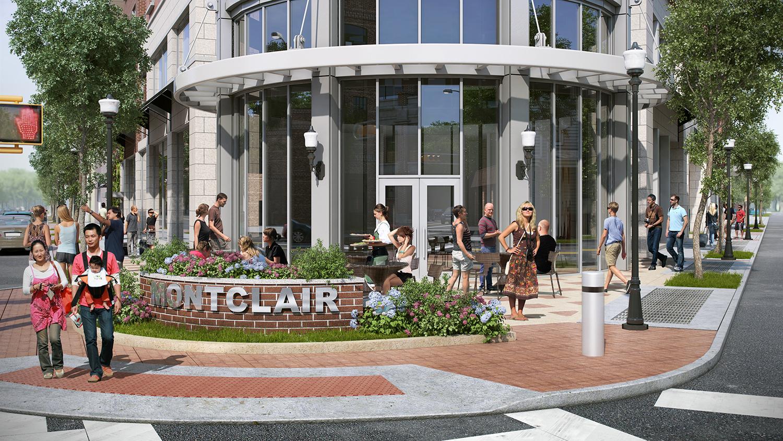 Rendering of The MC hotel public plaza and atrium. Credit: BOGZA