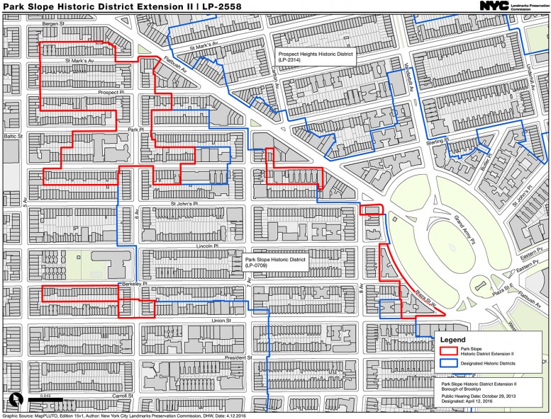 Map of Park Slope Historic District Extension II