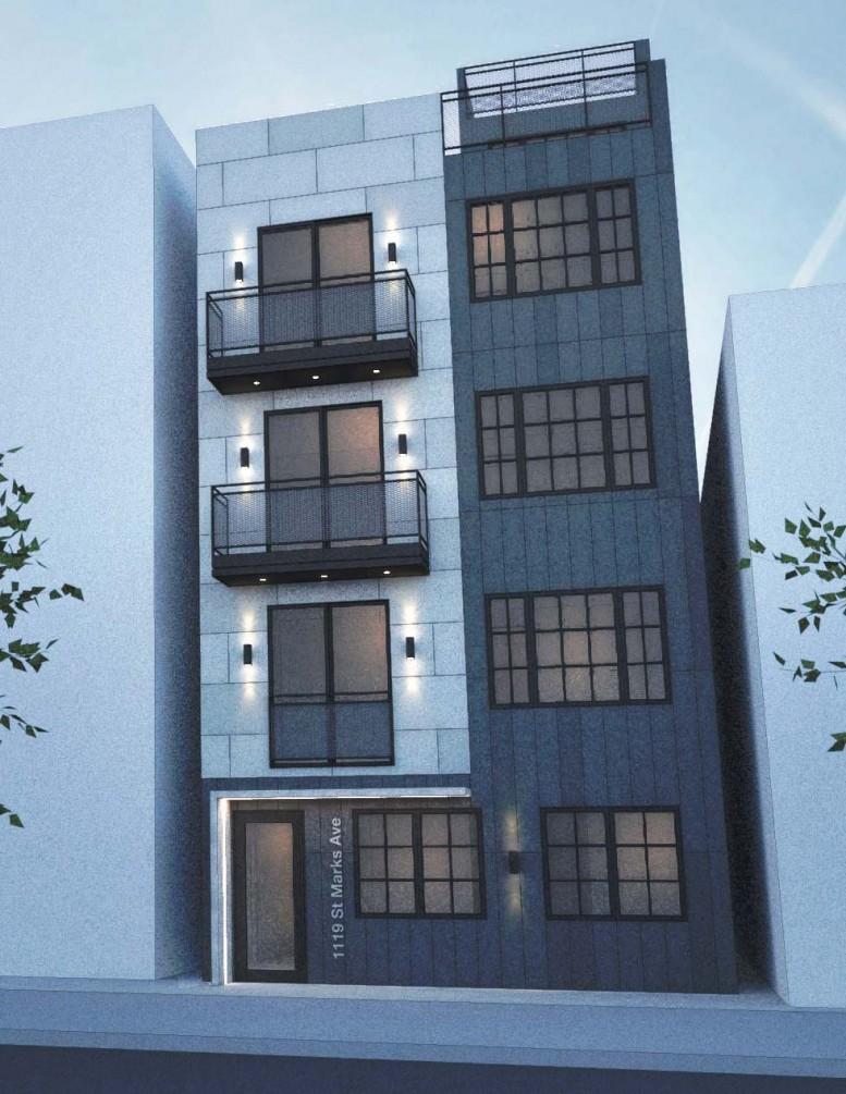 1119 St Marks Avenue, rendering by Olabanji B Awosika
