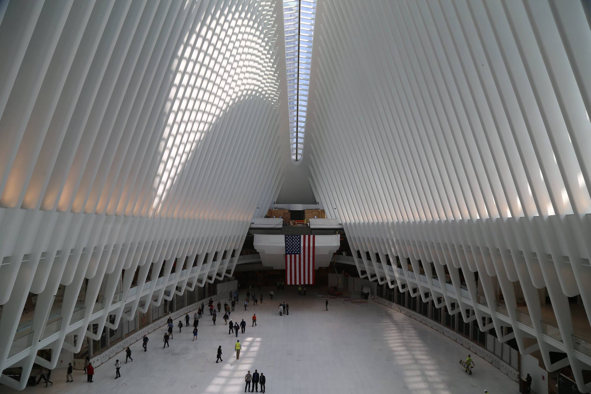 Main concourse of the World Trade Center Transportation Hub. Credit: WTC Progress