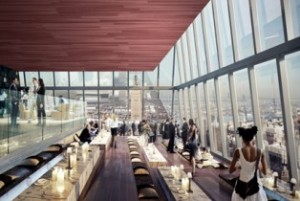Rendering of observation deck at 30 Hudson Yards. Via Related