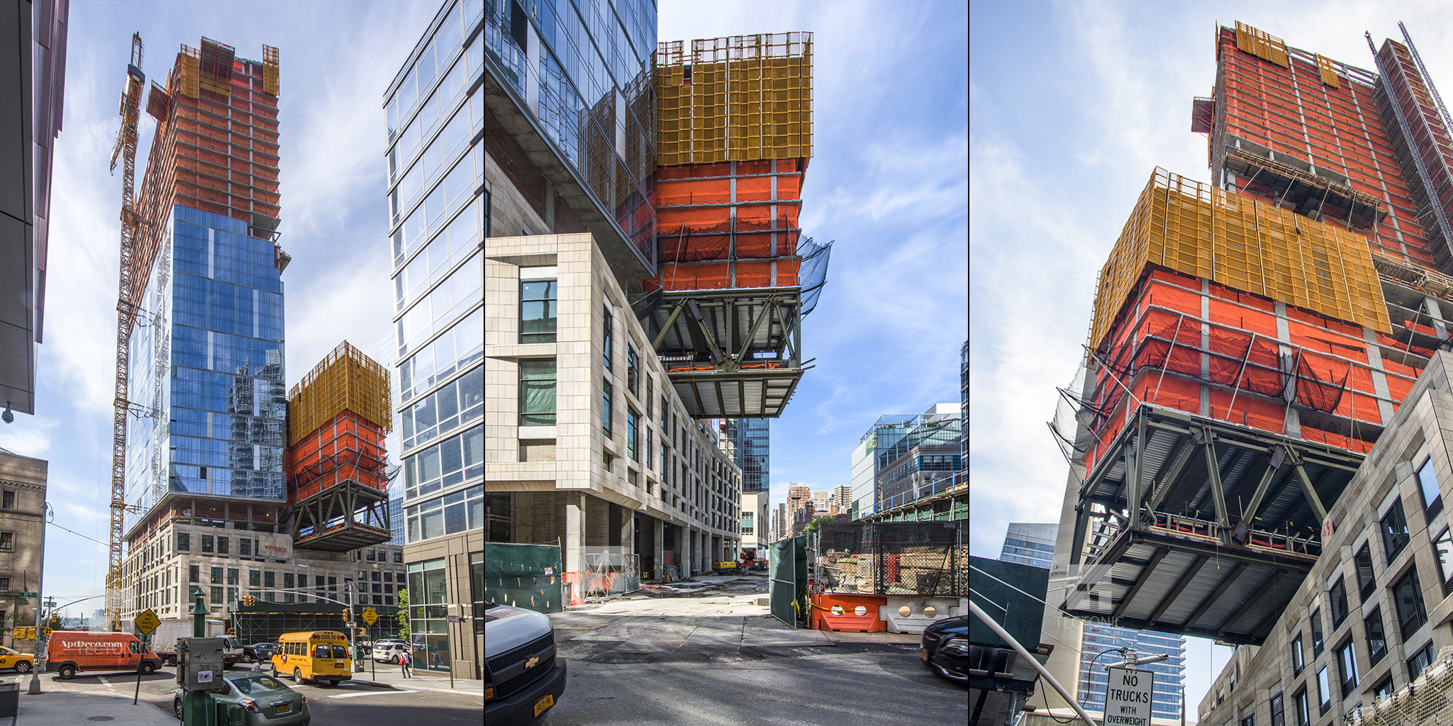 Construction of One West End, at 1 West End Avenue. Photos by Tectonic