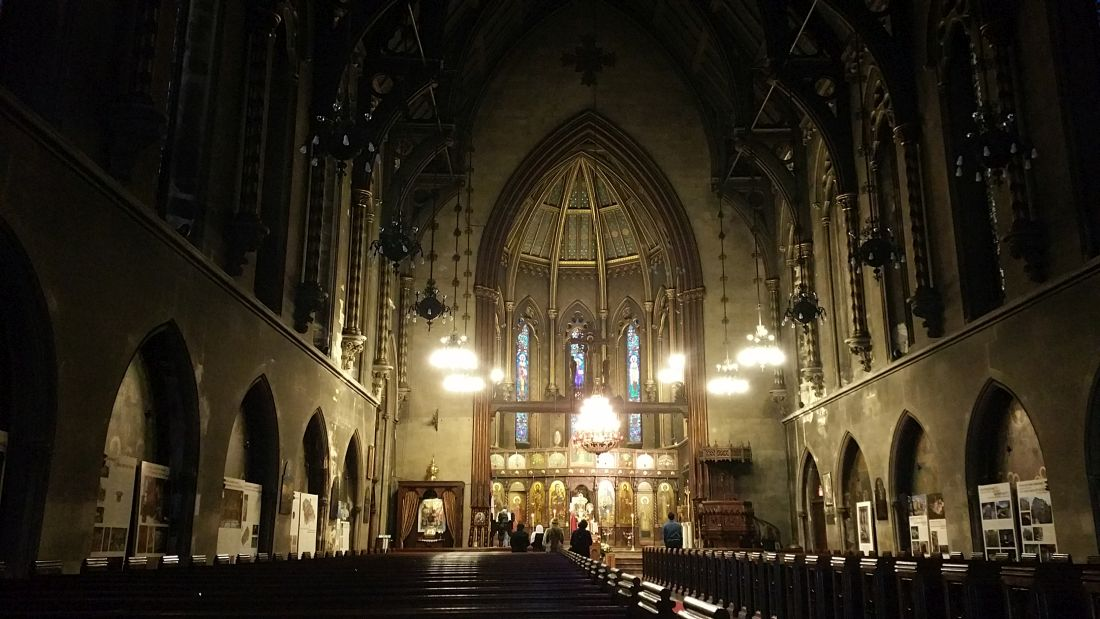 The former interior of the St Sava Serbian Orthodox Church at 15 West 25th Street, destroyed by fire on May 1, 2016. Photos by the author unless indicated otherwise.
