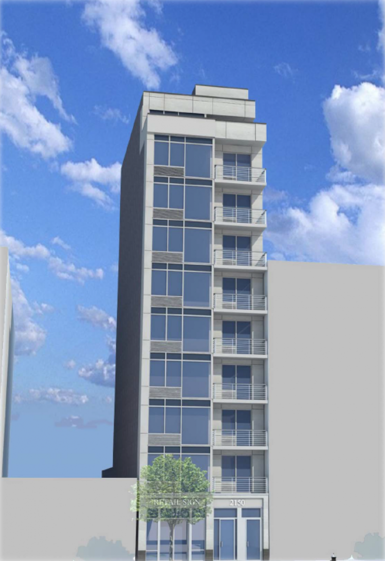 2150 Second Avenue, rendering by T.F. Cusanelli and Filletti Architects