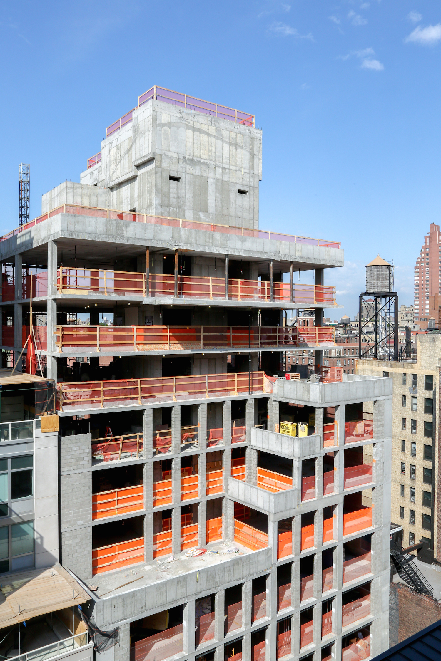 221 West 77th Street tops out. photo by J Grassi for Naftali Group
