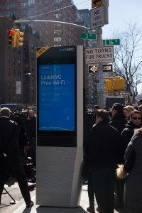 A LinkNYC kiosk at Third Avenue and East 16th Street. Credit: Appleton/Mayoral Photography Office