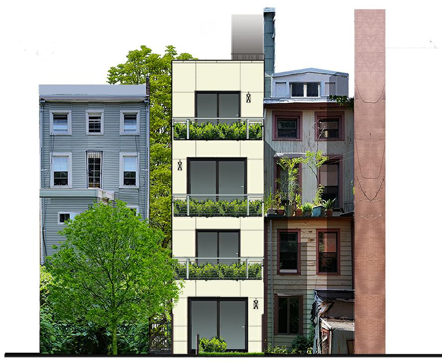 Proposed rear of 39 South Elliott Place