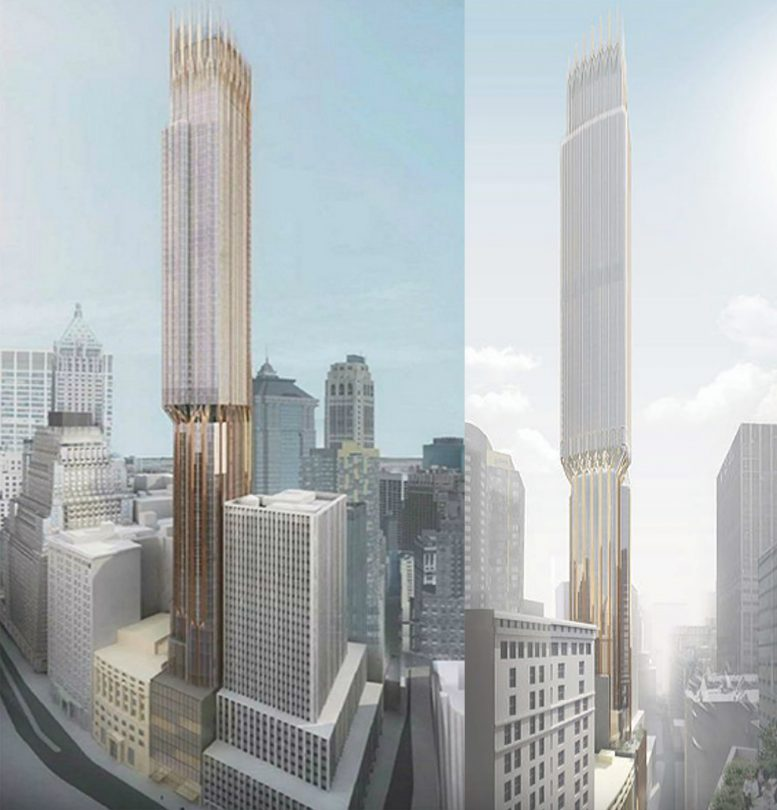 64 Story 1 115 Foot Tall Mixed Use Tower At 45 Broad Street Will Have 150 Residential Units