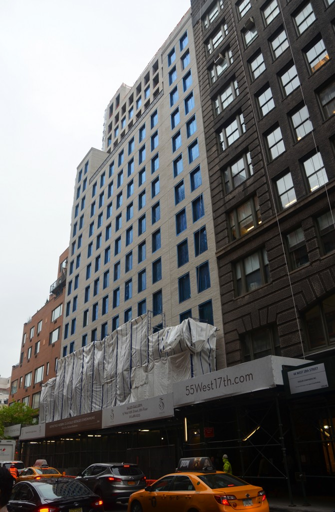 55 West 17th Street, May 4, 2016. All photos by the author unless noted.