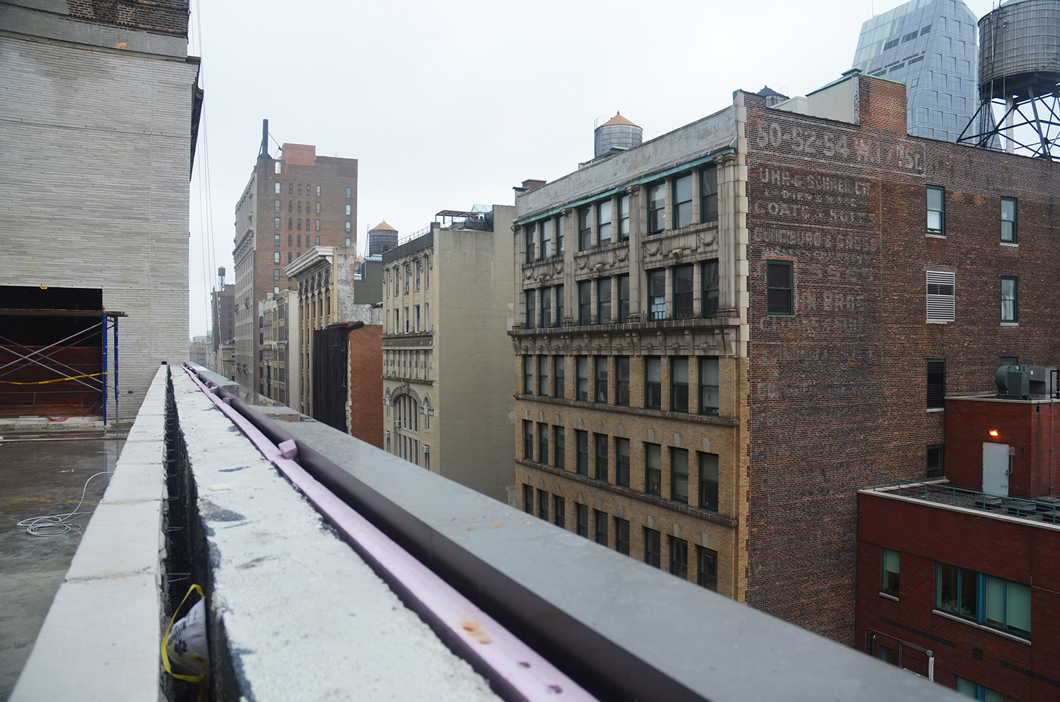 East view from 13th floor terrace at 55 West 17th Street