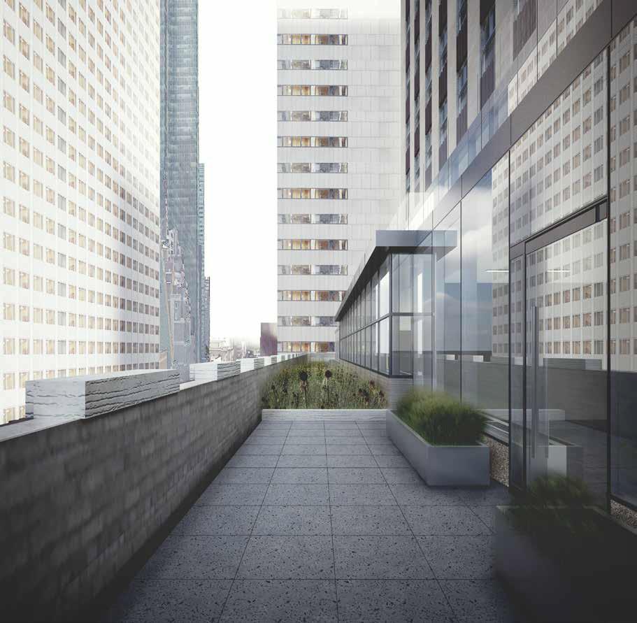 Rendering of proposal for 10th floor of 75 Rockefeller Plaza