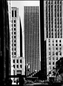 Archival photo of 75 Rockefeller Plaza. Credit: LPC