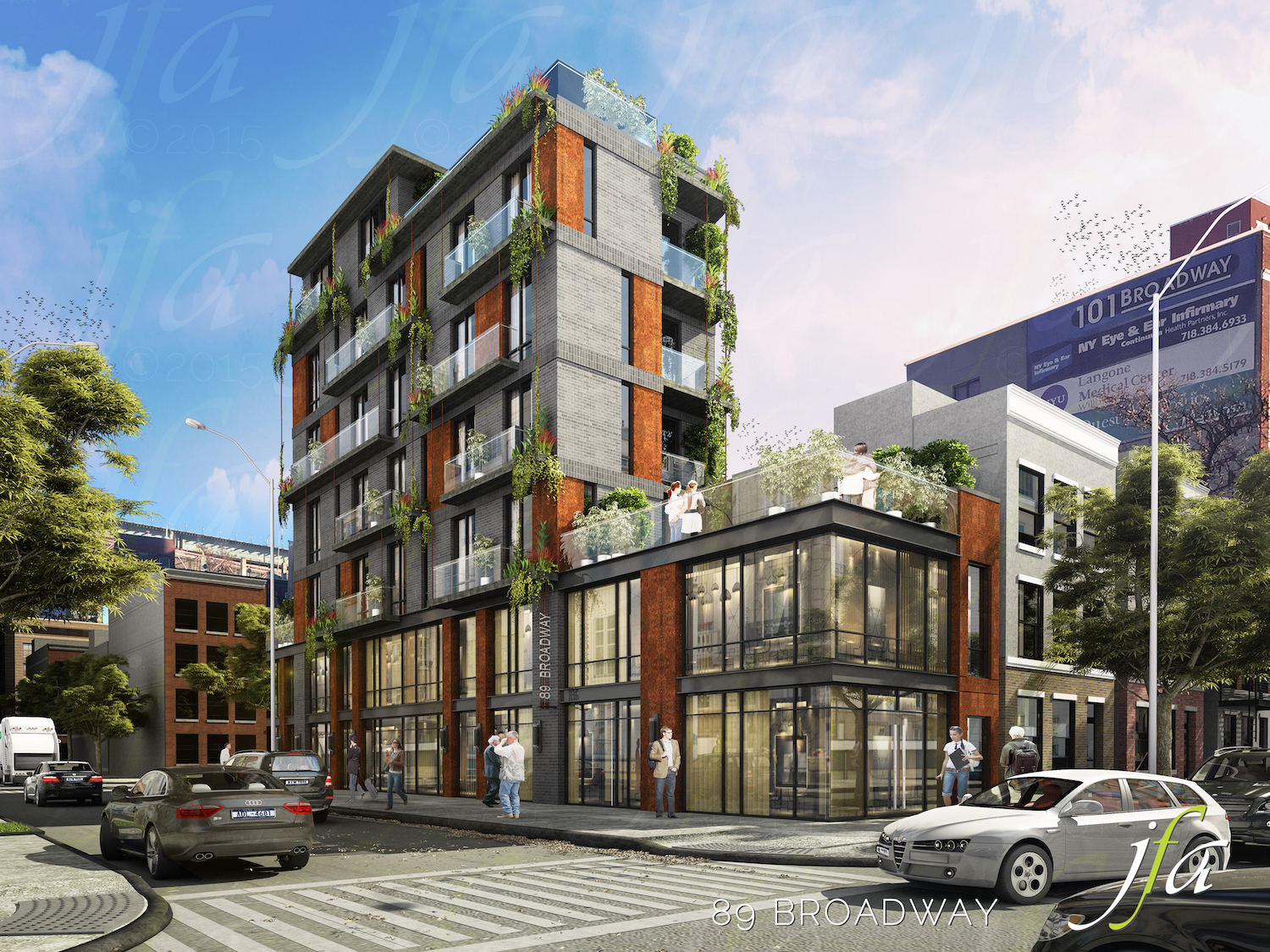 369 Berry Street, rendering by J Frankl Architects