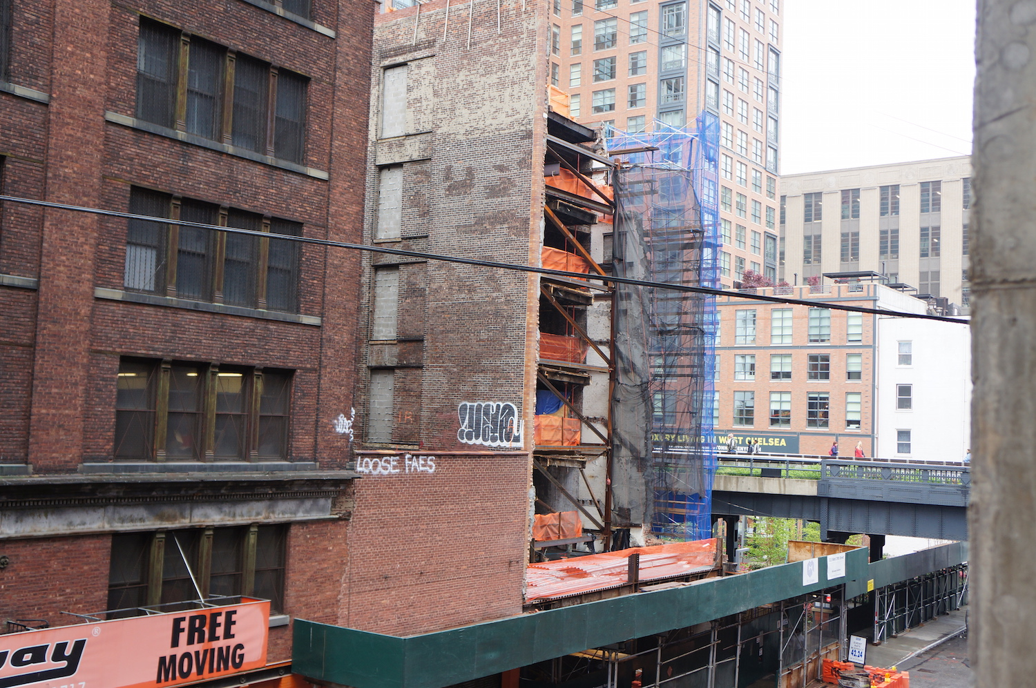 The current state of 515 West 29th Street, Chan's other condo building across the street