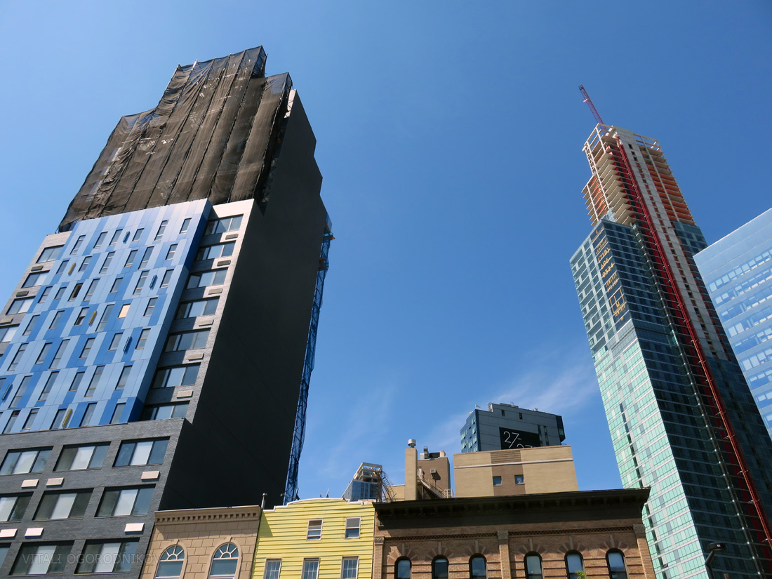 The future site of the tower, with Aloft Hotel on the left and Tower 28 on the right