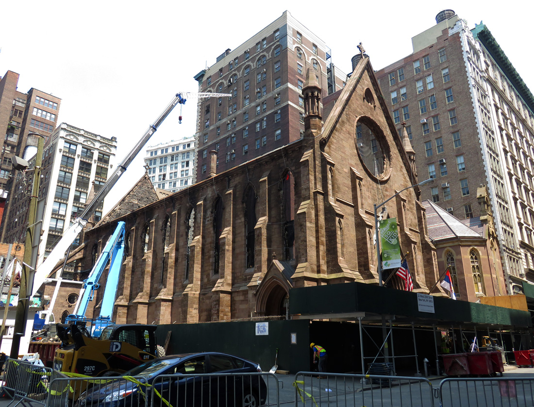Serbian Orthodox Cathedral of St. Sava at 15 West 25th Street. Looking northeast. Photos by the author, dated May 26 unless noted otherwise.