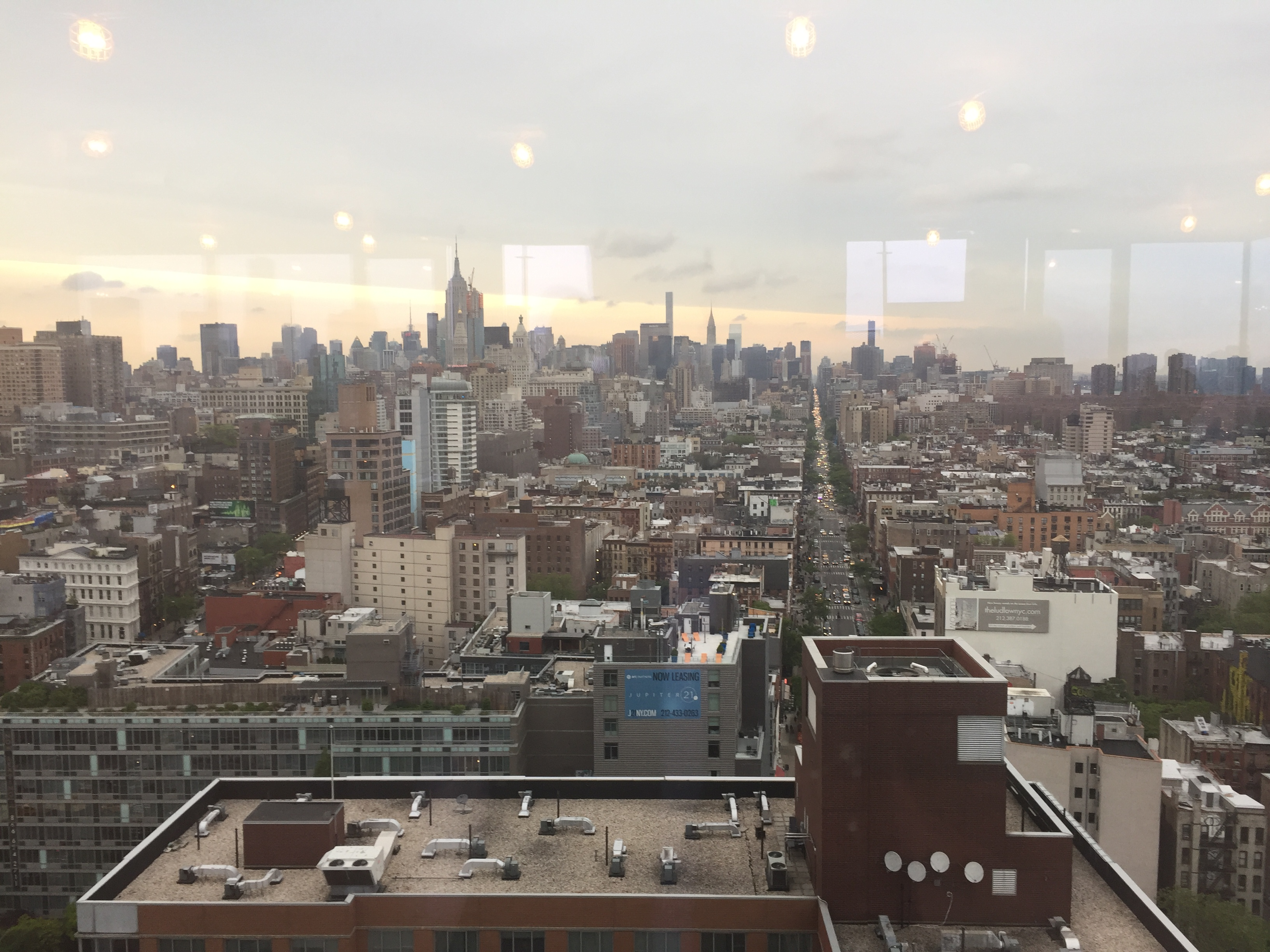 North view from 215 Chrystie. Photo by Evan Bindelglass, taken on iPhone 6