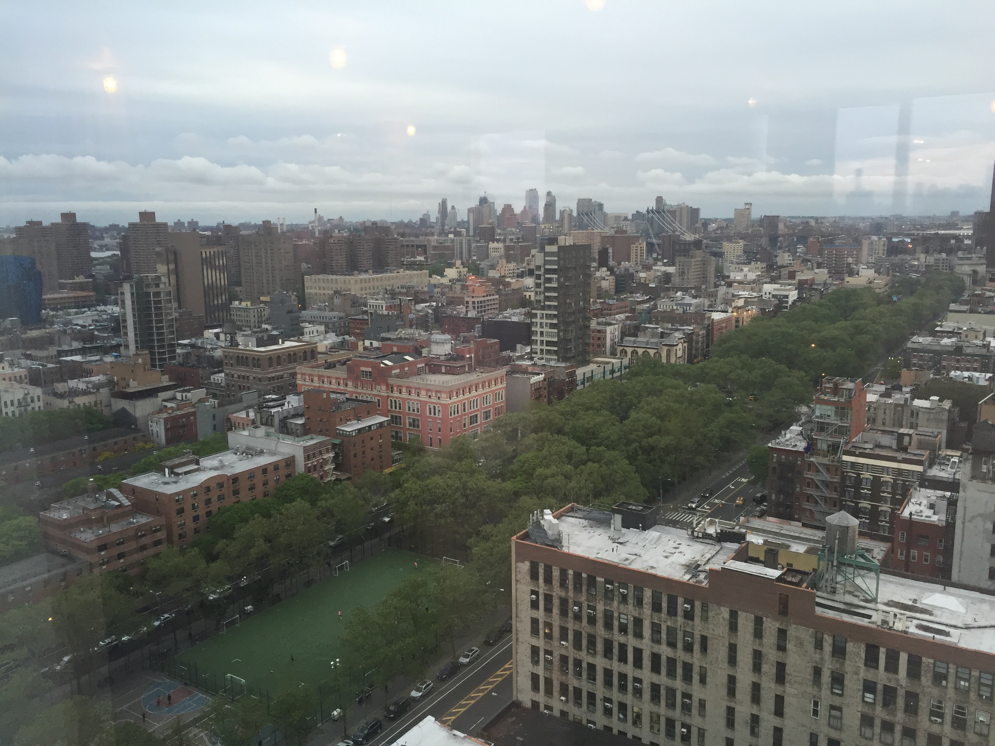 Southeast view from 215 Chrystie. Photo by Evan Bindelglass, taken on iPhone 6