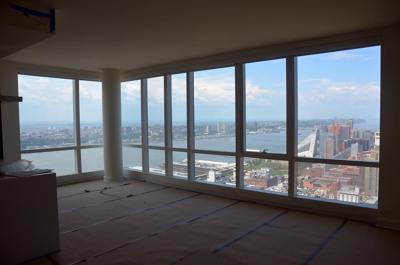 Northwest corner under renovation on the 62nd floor of Manhattan View at MiMA