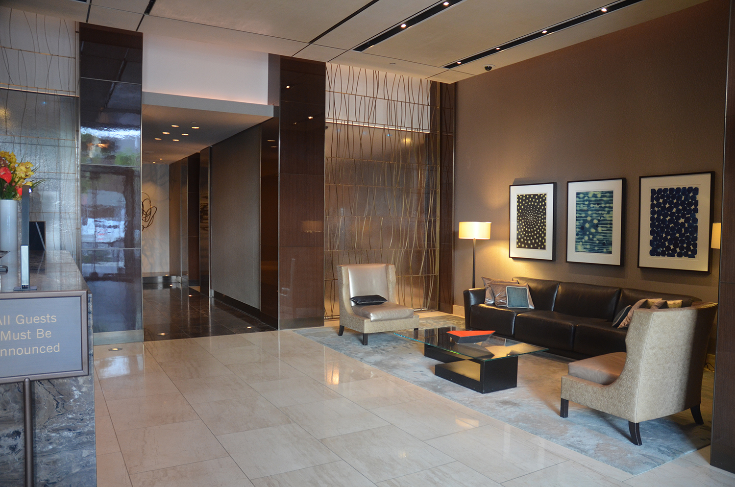 Current lobby at 460 West 42nd Street