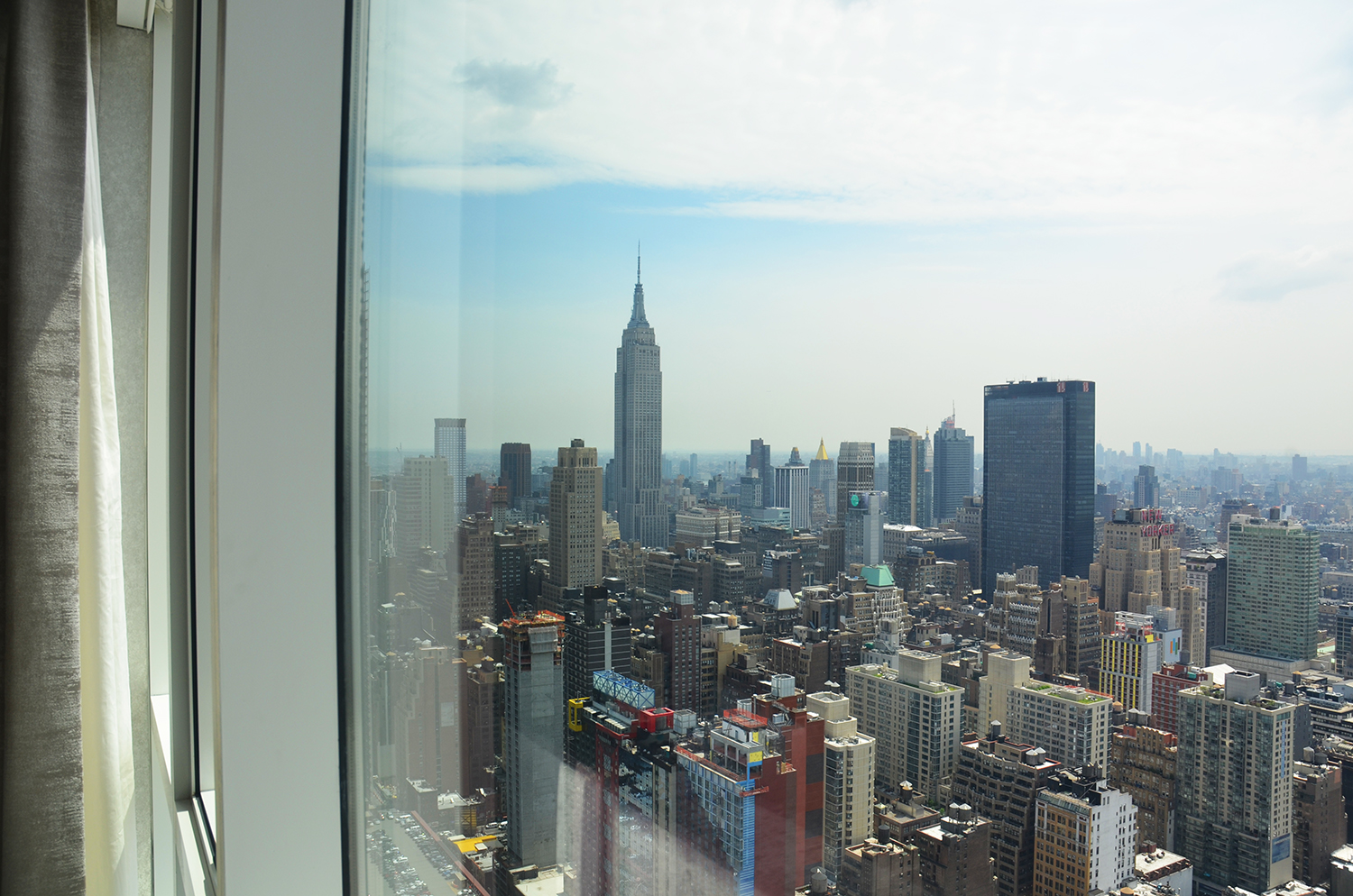 View from living room of a two-bedroom at Manhattan View at MiMA