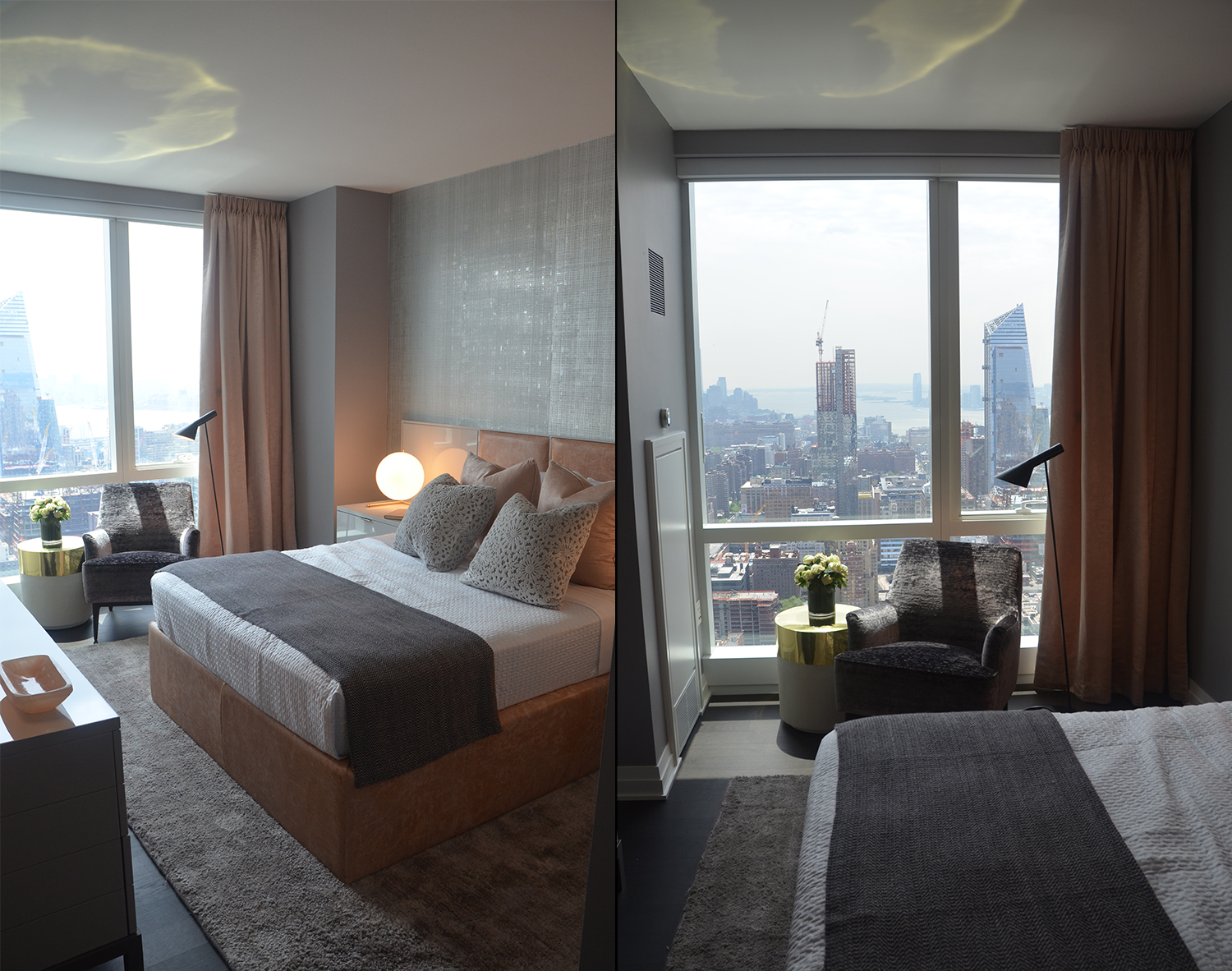 Bedroom in a two-bedroom at Manhattan View at MiMA