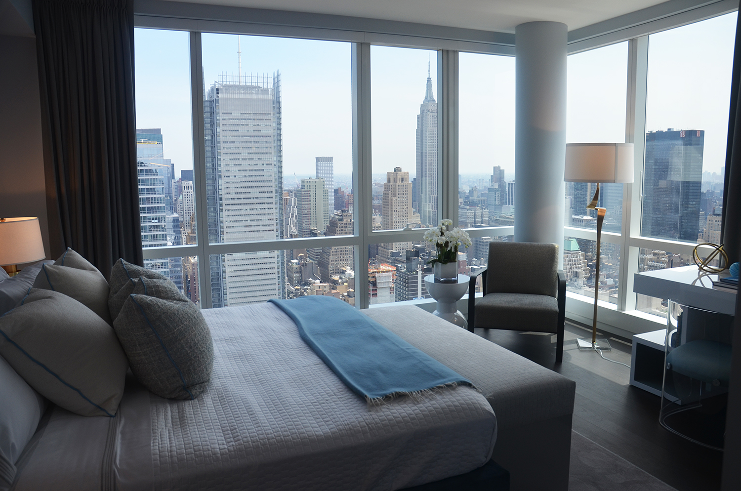 Master bedroom in a two-bedroom at Manhattan View at MiMA