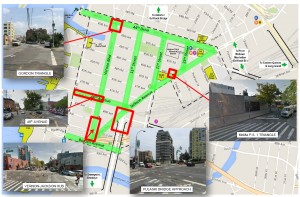 Areas of proposed streetscape improvements in Long Island City. Source: NYC Department of Transportation (NYCDOT), December 2015. Photos by the author unless indicated otherwise.