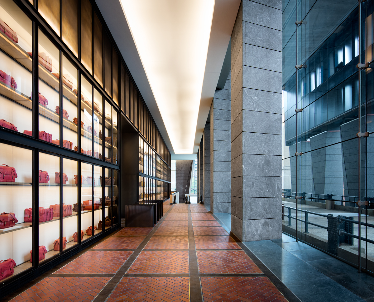10 Hudson Yards, Coach lobby interior, (c) Steve Freihon for Related-Oxford