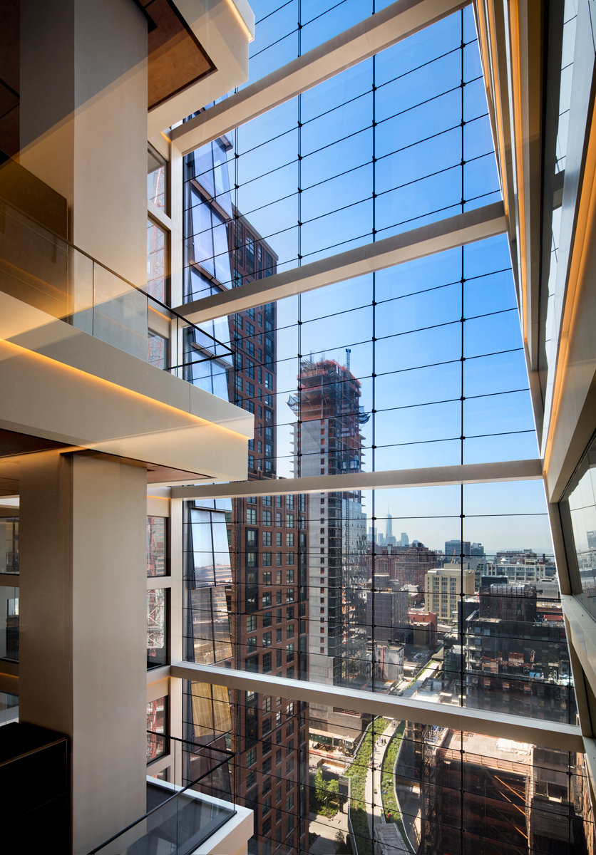 10 Hudson Yards, High Line view from coach atrium, (c) Steve Freihon for Related-Oxford
